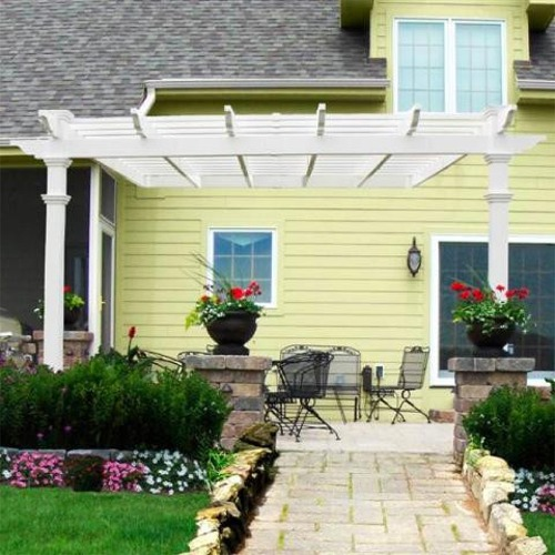 Backyard Pergola Kits : BackYard Shade Structures  Vinyl Pergola Kit  Freemont Pergola