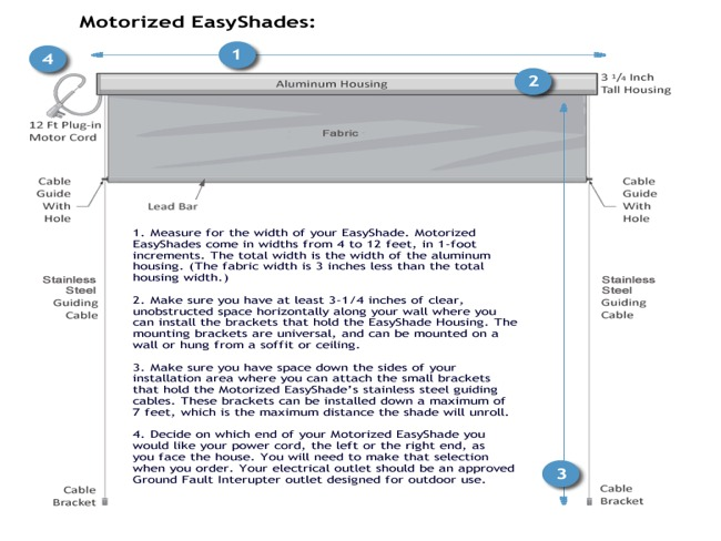 Measuring for the Motorized EasyShades