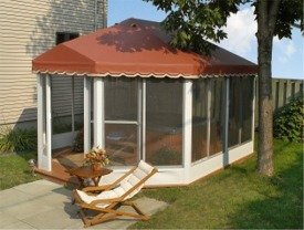 Oblong And Oval Screened Patio Enclosures Free Standing