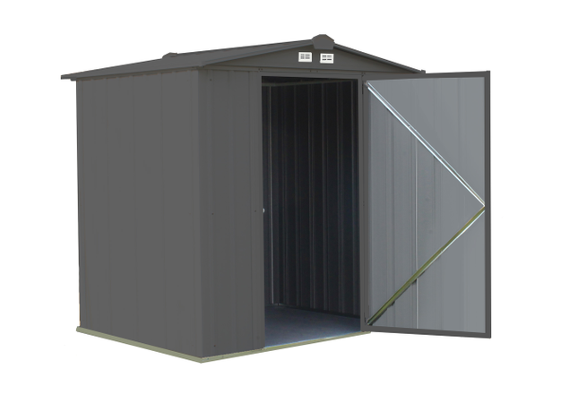 6x5 EZEE Shed in Charcoal with Cream Trim