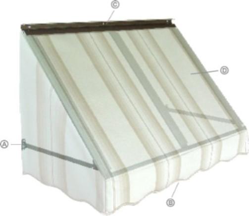 Door Canopy  sc 1 st  Patio Covers & Aluminum u0026 Fabric Window Awnings   FutureGuard u0026 NuImage Awnings ...