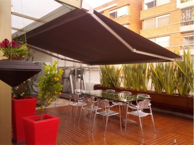 The Brasilia Slim Retractable Cassette Awning Patio