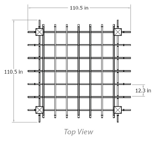 Athens Arbor wireframe dimensions