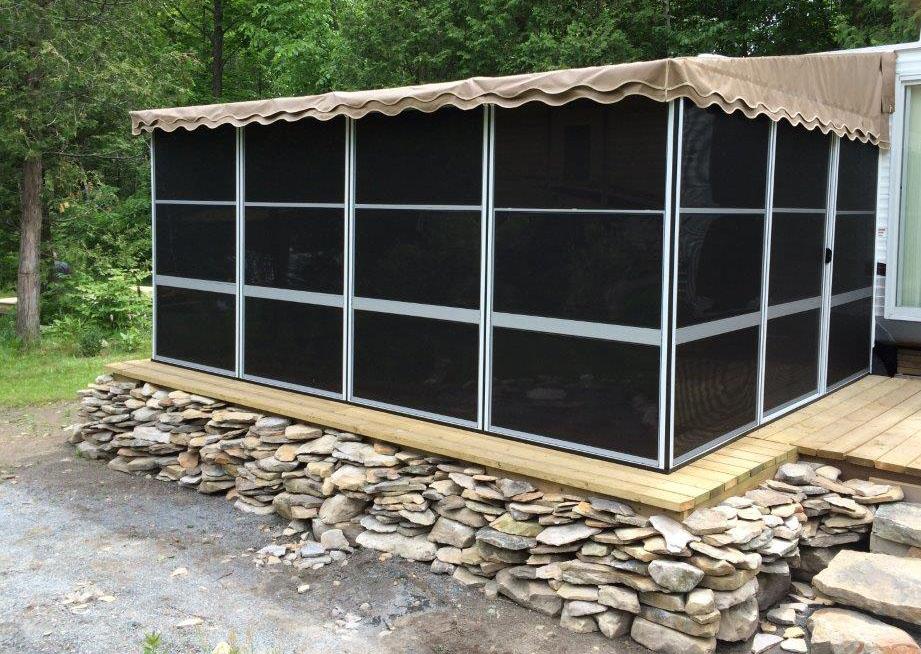 Trailer Deck Enclosure System | Trailer Mounted Screen ...